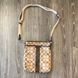 Coach brown crossbody bag